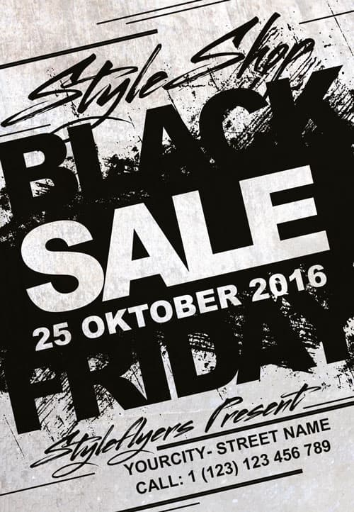 Download Black Friday Sale Free Flyer Template For Photoshop