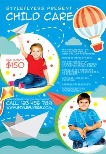 Child Care Free Flyer Template