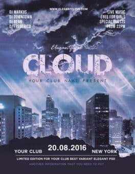 Cloud City Free Flyer Template