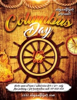 Columbus Day Free Flyer Template