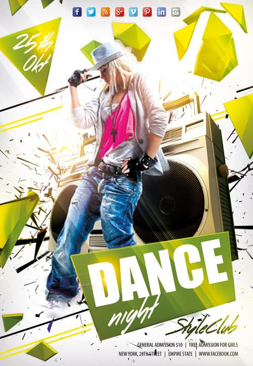 Freepsdflyer Download Dance Night Free Flyer Template For Photoshop