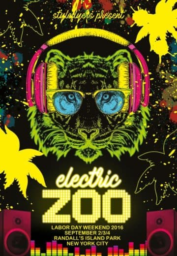 Electric Festival Free Flyer Template