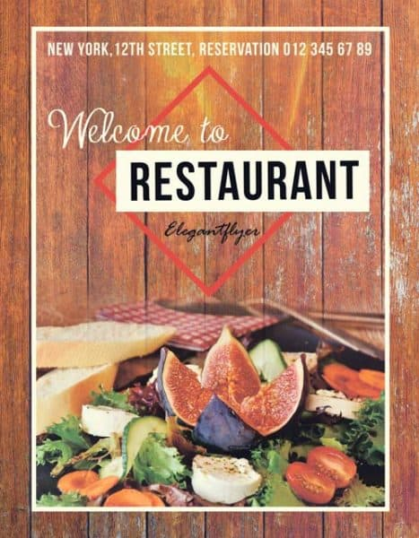 Food Restaurant Free Flyer Template