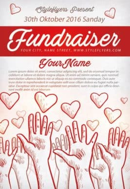 Community Fundraiser Free Flyer Template