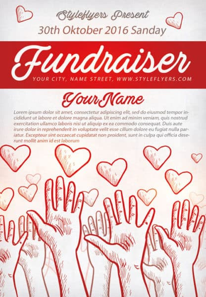 Community Fundraiser Free Flyer Template Download For Photoshop - Fundraising brochure template