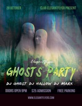 Ghosts Party Free Flyer Template