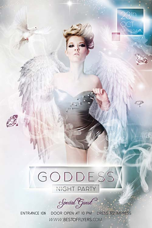 Goddess Night Party Free Flyer Template