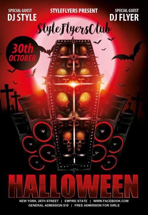 Freepsdflyer download the halloween free psd flyer for Free halloween flyer templates