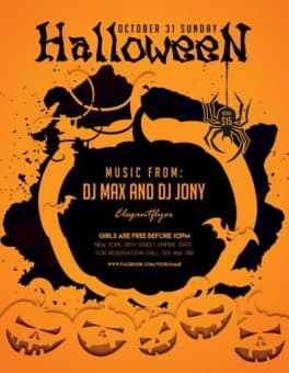 Halloween Party Freebie Flyer Template