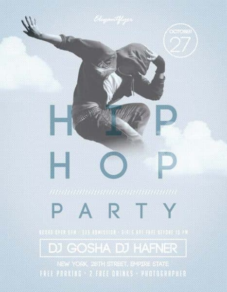 Hip-Hop Party Free Flyer Template
