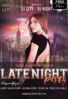 Late Night Party Free Flyer Template