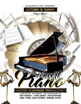 Piano Concert Free Flyer Template