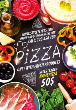 Pizza Restaurant Free Flyer Template