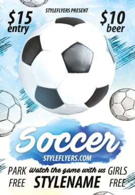 Soccer Sports Game Free Flyer Template