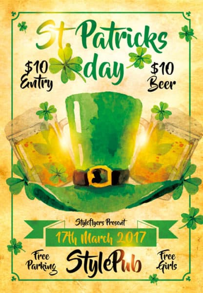 St. Patricks Day Free PSD Flyer Template