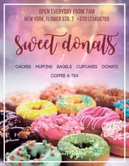 Sweet Donuts Free Flyer Template