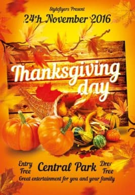 Thanksgiving Free Flyer Template