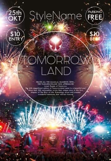Tomorrowland Party Free Flyer Template