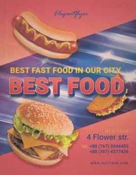 Best Food Free Flyer Template