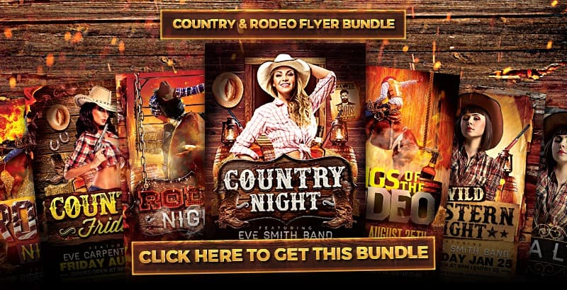Download the best Western, Country and Rodeo Flyer Templates for Photoshop