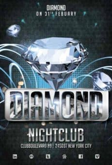 Diamond Club Free Flyer Template