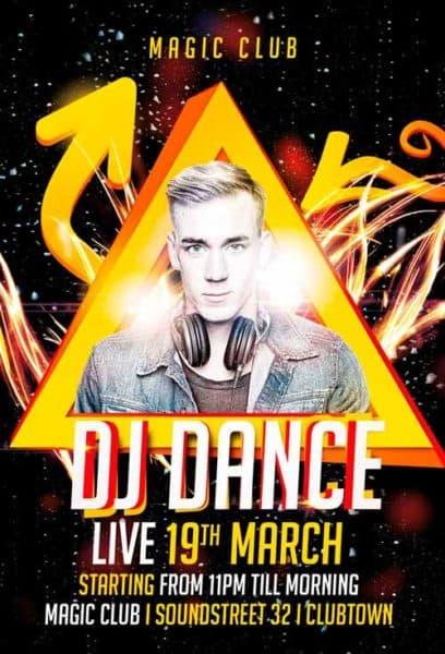 Dj Dance Free Flyer Template