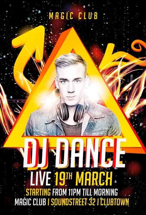 Download the best Free DJ Flyer PSD Templates for Photoshop – Club Flyer Maker