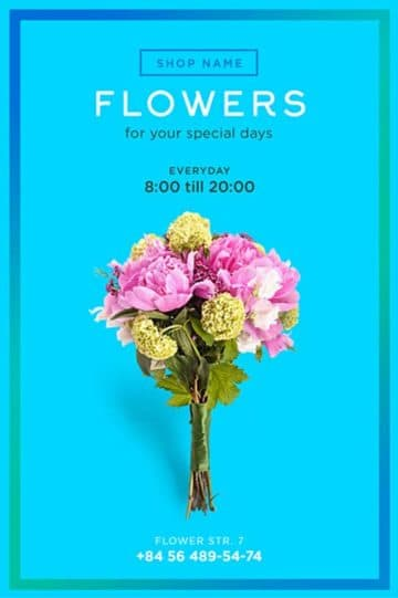 Flower Shop Free Flyer Template - Download for Photoshop