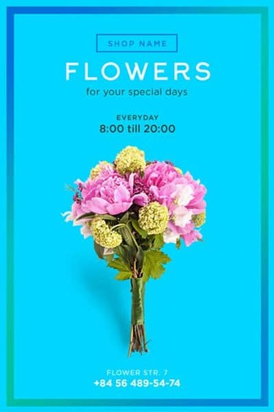 Flower Shop Free Flyer Template Download For Photoshop