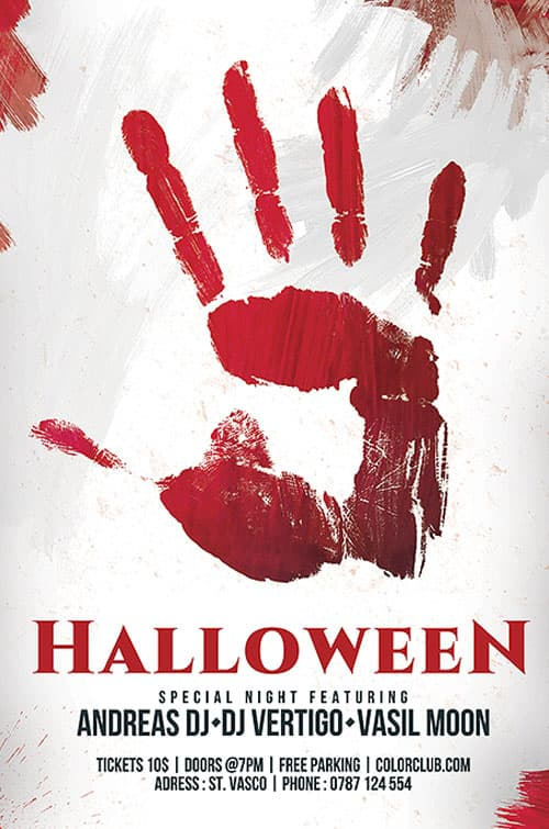 Download the free halloween flyer template for photoshop for Free halloween flyer templates