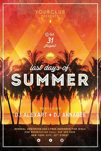 Last Days of Summer PSD Flyer Template