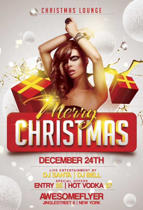 christmas flyer free template