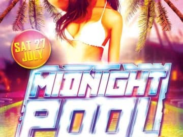Midnight Pool Party Flyer Template
