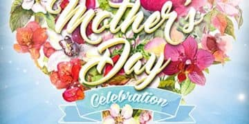 Mothers Day Celebration Free Flyer Template