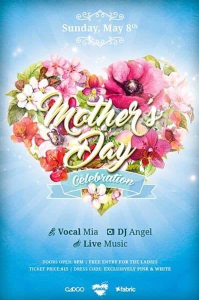 Mothers Day Celebration Free Flyer Template - Download For Photoshop