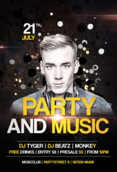 Party and Music Free Flyer Template