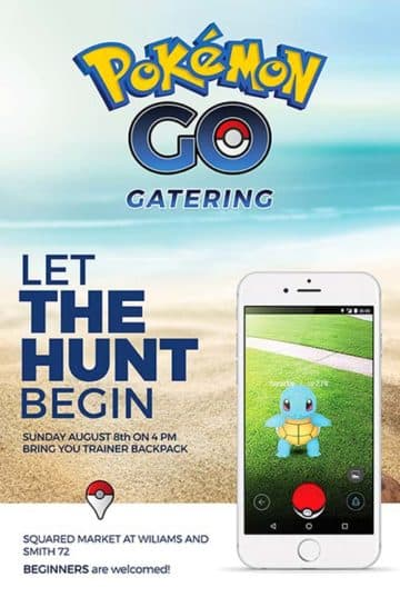 Pokemon Hunt Free Flyer Template