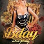 Retro Birthday Party Free Flyer Template
