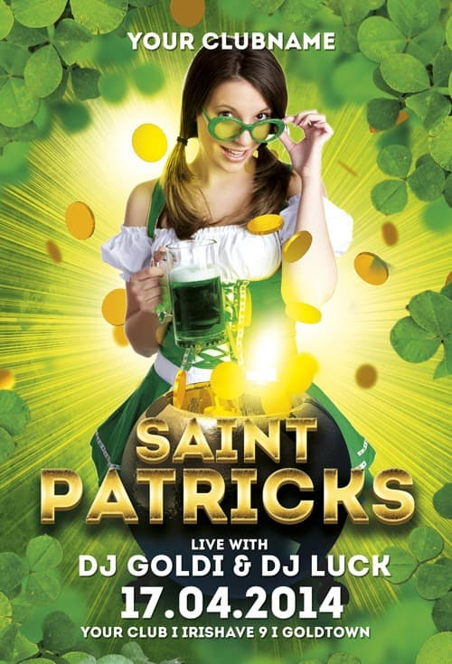 Saint Patricks Free Flyer Template