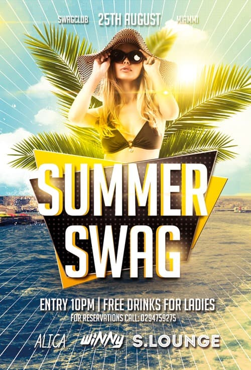 Dj Flyers For Summer Bbq Freepsdflyer Swag Party Free Flyer Template