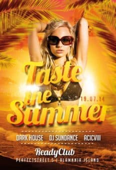 Taste The Summer Free Flyer Template
