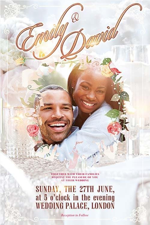 freepsdflyer wedding celebration free psd flyer template