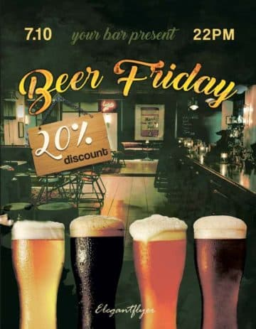 Beer Friday Free Flyer Template