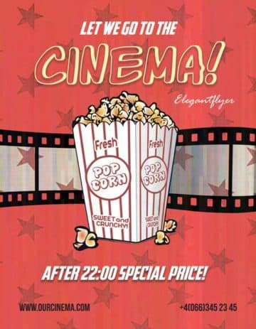 Cinema Time Free Flyer Template