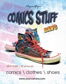 Comics Shop Party Free Flyer Template