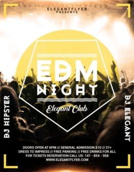 EDM Night Free PSD Flyer Template