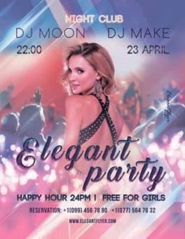 Elegant Party Free PSD Flyer Template