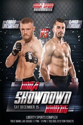 MMA Showdown Boxing Free PSD Flyer Template