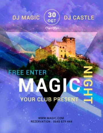Magic Night Party Free Flyer Template