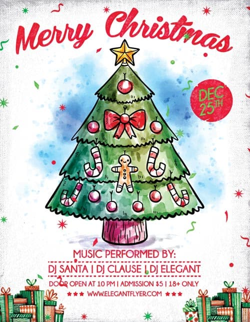 Download Free Christmas Flyer PSD Templates for Photoshop – Christmas Flyer Template